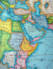 Middle East Map (Creative Commons)