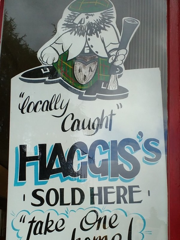 Can't believe they are advertising Haggis OUT OF SEASON!!