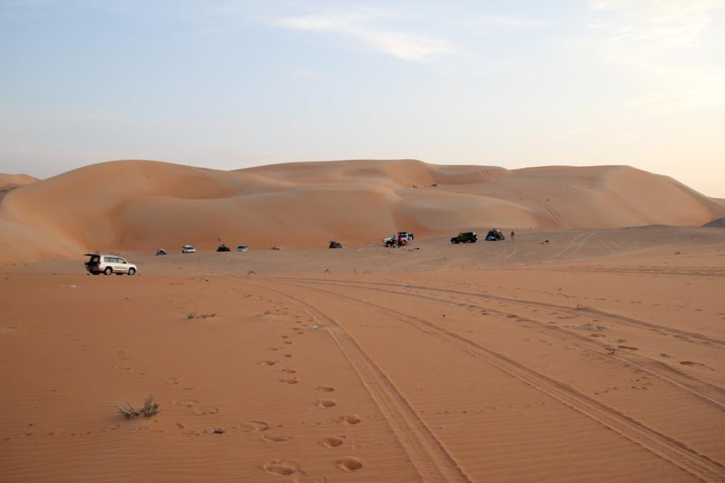 Camping near a gatch in Liwa
