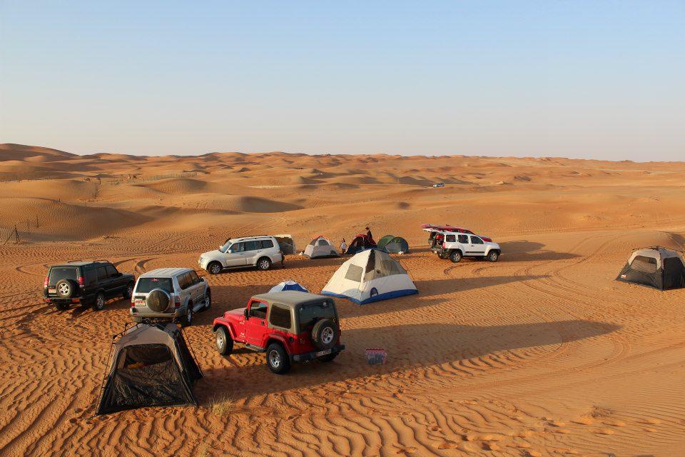 "Camping near the ""camel"" gatch, Al Ain"