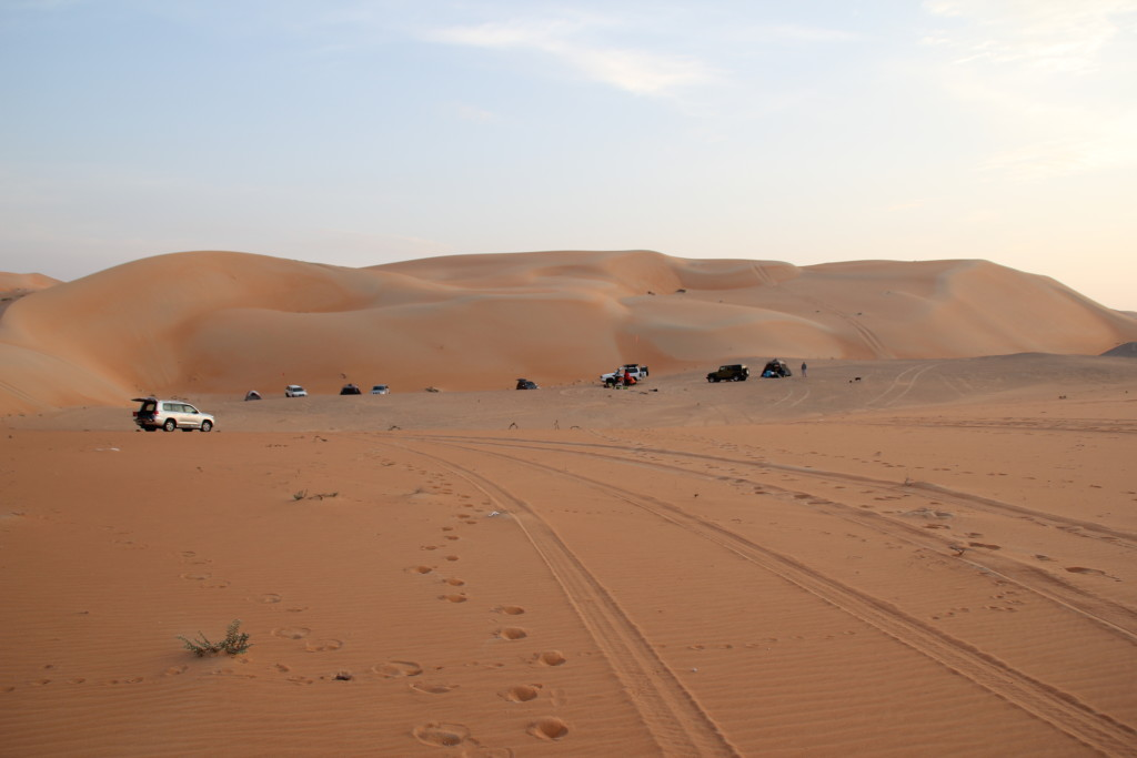 Camping near a gatch in Liwa