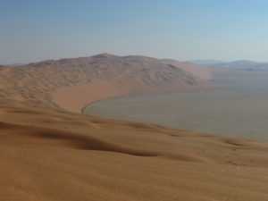 Spectacular slip-faces guard the Liwa Crescent's windswept heights