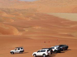 Time for a photo stop to marvel at the Liwa Crescent dunes