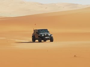 Plenty of space on the Liwa Crescent to find your own path